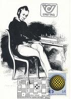 D33319 CARTE MAXIMUM CARD TRIPLE FD 1985 AUSTRIA - CHESS SCHACH CP ORIGINAL - Chess