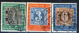 RFT-BRD 1949 UN Serie N. 2A-2C Usati Cat. € 140 - Gebraucht
