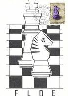 D33320 CARTE MAXIMUM CARD 1981 LUXEMBOURG - CHESS SCHACH ECHECS CP ORIGINAL - Chess