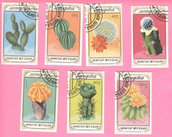 MONGOLIA -Cactuses (7 Stamps Complete Serie) - 1989 - Mongolia