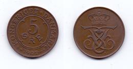 Denmark 5 Ore 1907 VBP/GJ - Denmark