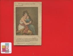 MALACEINE POUDRE PARFUM Monpelas Paris  PEINTRE VIGEE LEBRUN LOUVRE Maternité - Parfumkaarten
