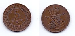 Denmark 5 Ore 1908 VBP/GJ - Denmark