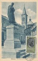 D33325 CARTE MAXIMUM CARD 1957 ITALY - POET OVIDIO STATUE AT SULMONA CP ORIGINAL - Writers