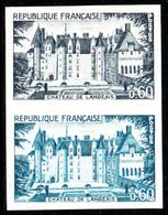 FRANCE - N°1559 - CHÂTEAU DE LANGEAIS - ESSAI EN PAIRE - LUXE. - Prove