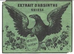EXTRAIT D'ABSINTHE SUISSE . QUALITE SUPERIEURE . AIGLE - Alcools