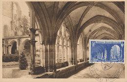 D33326 CARTE MAXIMUM CARD 1949 FRANCE - ABBEY SAINT-WANDRILLE CP ORIGINAL - Abbeys & Monasteries