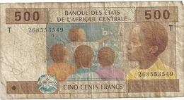 Banque Des états De L'Afrique Centrale Congo 500 Francs - Congo