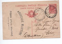 1910 - ENTIER POSTAL De PORTO MAURIZIO Avec TàD VENTIMIGLIA Pour NICE - Entiers Postaux