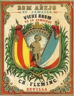 VIEUX RHUM DE LA JAMAIQUE . FLEMING . SEVILLA - Alcools