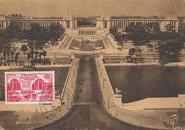 D33327 CARTE MAXIMUM CARD 1948 FRANCE - PALAIS DE CHAILLOT NATIONS UNIES CP ORIGINAL - Architecture