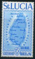 SAINTE-LUCIE ( AERIEN/BLOC ) : Y&T N°  1 + ND + BLOC  TIMBRES  NEUFS  SANS  TRACE  DE  CHARNIERE , A  VOIR . - St.Lucia (1979-...)