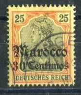 ALLEMAGNE/MAROC (  POSTE ) :  Y&T  N°  49  TIMBRE  BIEN  OBLITERE  , A  VOIR . - Deutsche Post In Marokko
