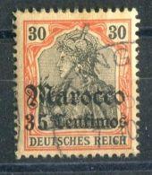 ALLEMAGNE/MAROC (  POSTE ) :  Y&T  N°  50  TIMBRE  BIEN  OBLITERE  , A  VOIR . - Deutsche Post In Marokko