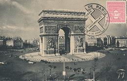D33328 CARTE MAXIMUM CARD 1944 FRANCE - ARC DE TRIOMPHE - POSTMARK LIBERATION - 1.50 FRANC CP ORIGINAL - Architecture