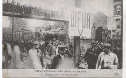 GREVE GENERALE DES CHEMINS DE FER  REPRODUCTION  L AURORE 1986 - Syndicats