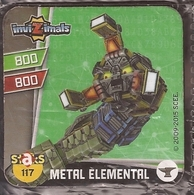 IMAN, Magnet, INVIZIMALS The Resistance, De PANINI, 117 Metal Elemental - Unclassified