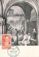D33330 CARTE MAXIMUM CARD FD 1952 FRANCE - ABBEY ST. CROIX DE POITIERS CP ORIGINAL - Abbeys & Monasteries