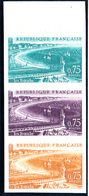 FRANCE - N°1502 - LA BAULE - ESSAI EN BANDE DE 3 - LUXE. - Proofs