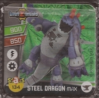 IMAN, Magnet, INVIZIMALS The Resistance, De PANINI, 134 Steel Dragon Max - Magnetos