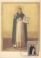 D33333 CARTE MAXIMUM CARD 1971 VATICAN - SAN DOMINICO DI GUZMAN CP ORIGINAL - Christianity