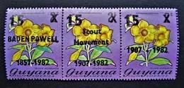 B2229 - Guyana - 1982 - Mich. 746-748 - MNH - Guyana (1966-...)