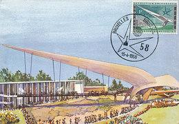 D33340 CARTE MAXIMUM CARD 1958 BELGIUM - WORLD EXPO BRUSSELS CP ORIGINAL - 1958 – Brussels (Belgium)