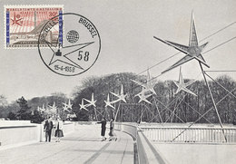 D33341 CARTE MAXIMUM CARD 1958 BELGIUM - WORLD EXPO BRUSSELS CP ORIGINAL - 1958 – Brussels (Belgium)