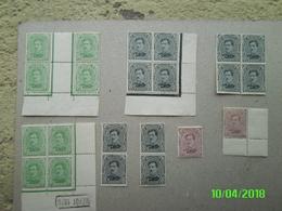 Timbres 137A(Type2) Bloc De 4 Depôt 1920 +autres - 1915-1920 Albert I