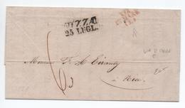 1839 - LETTRE De MARSEILLE Pour NICE / NIZZA Avec MP VIA DI MARE E. - 1801-1848: Precursors XIX