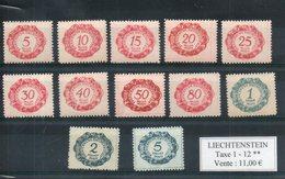 Liechtenstein. Timbres Taxe. - Postage Due