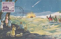 D33342 CARTE MAXIMUM CARD 1963 AUSTRALIA - CHRISTMAS STAR THREE KINGS RELIGION CP ORIGINAL - Maximum Cards