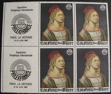 LOT 1545 - 1980 - ALBERT DÜRER - BLOC DE 4 TIMBRES NEUFS** - N°2090 - Cote : 8,00 € - Francia