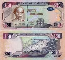 JAMAICA       50 Dollars       P-94[c]       1.6.2017       UNC - Giamaica