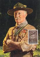 D33345 CARTE MAXIMUM CARD 1958 LIECHTENSTEIN - LORD BADEN POWELL SCOUTING CP ORIGINAL - Scouting
