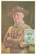 D33348 CARTE MAXIMUM CARD 1957 BELGIUM - LORD BADEN POWELL SCOUTING CP ORIGINAL - Other