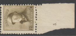 166** Bdf N° Planche 5       .. - 1919-1920 Roi Casqué