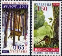 Bulgaria 2011  - Europa Cept - Set  MNH** - Europa-CEPT