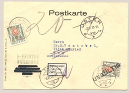 Schweiz - 1937 - 20c Postage Due On Unfranked Postcard - Rejected And Returned To Sender With Again 20c Postage Due - Strafportzegels