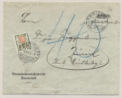 Schweiz - 1927 - 40c Postage Due On Unfranked Amtliche Cover From Amriswil To Zürich - Portomarken
