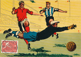 D33353 CARTE MAXIMUM CARD RR 1958 SWEDEN - SOCCER WORLD CHAMPIONSHIP - POSTMARK SOLNA CP ORIGINAL - World Cup