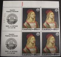 LOT 1552 - 1980 - ALBERT DÜRER - BLOC DE 4 TIMBRES NEUFS** - N°2090 - BdF - Cote : 8,00 € - Francia