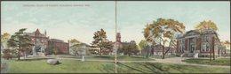 State University Buildings, Lincoln, Nebraska, C.1910 - Double Panoramic Postcards - Lincoln