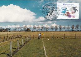 D33358 CARTE MAXIMUM CARD TRIPLE 2004 NATIONS UNIES - SOCCER CP ORIGINAL - Soccer