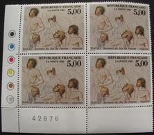 LOT 1555 - 1989 - DAVID - BLOC DE 4 TIMBRES NEUFS** - N°2591 - CdF - Cote : 11,00 € - France