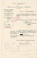 Document Vichy Secrétariat à La Jeunesse .   - ROUEN 1943 Seine Inférieure ETAT FRANCAIS - Documenti Storici