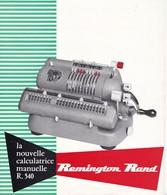 PUB,,,,,REMINGTON  RAND ,,,,LA NOUVELLE CALCULATRICE  MANUELLE  R.  540 - Publicités