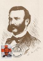 D33361 CARTE MAXIMUM CARD 1989 LUXEMBOURG - RED CROSS HENRI DUNANT CP ORIGINAL - Henry Dunant