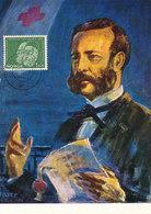 D33363 CARTE MAXIMUM CARD RR 1962 NORWAY - RED CROSS HENRI DUNANT NOBEL PRIZE - 1 KR. CP ORIGINAL - Nobel Prize Laureates