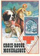D33364 CARTE MAXIMUM CARD 1974 MONACO - RED CROSS CP ORIGINAL - Red Cross